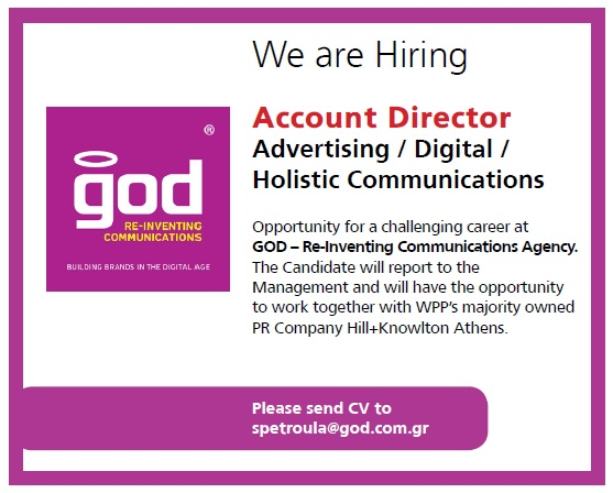 advertising-god aggelia-account director