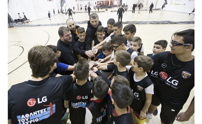 "H ομάδα ""LG Αθλητές του Αύριο"" στην Ακαδημία Eurohoops"
