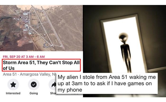 «Storm Area 51»: Το πιο δημοφιλές meme μεταξύ των παιδιών