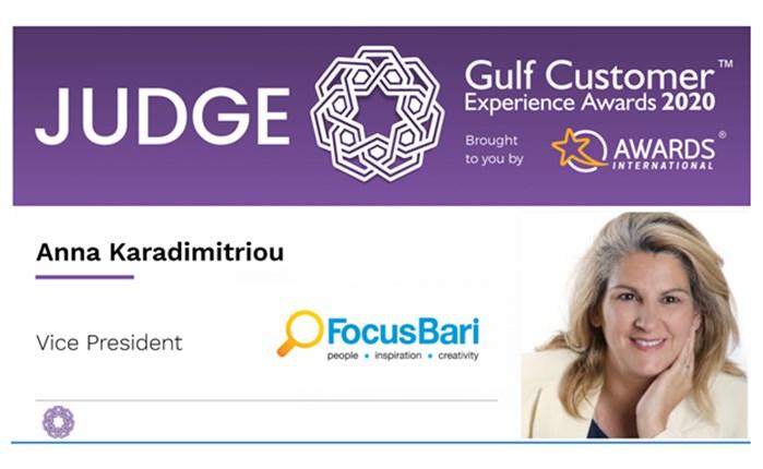 H Άννα Καραδημητρίου της Focus Bari στην κριτική επιτροπή των CX Gulf Awards 2020