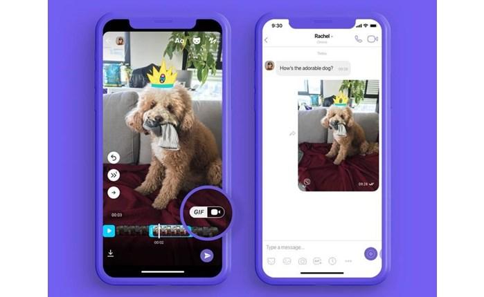 Viber: Νέα λειτουργία για τη δημιουργία GIFs