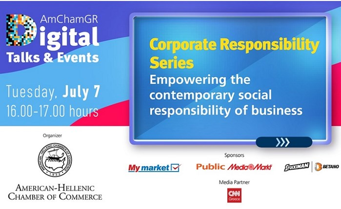 "AmChamGR Digital Talks & Events: ""Empowering the contemporary social responsibility of business"""