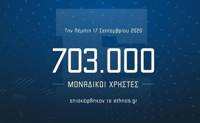 Ethnos.gr: Άνοδος ημερήσιας επισκεψιμότητας