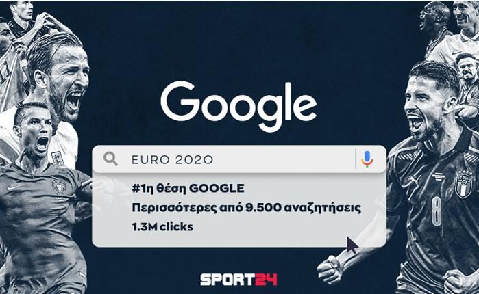 SPORT24: Στην κορυφή της GOOGLE για τους αγώνες του EURO 2020