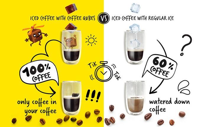 Στην asterias  τα Coffee Qubes