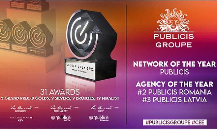 Publicis Groupe: Δίκτυο της Χρονιάς στο Golden Drum