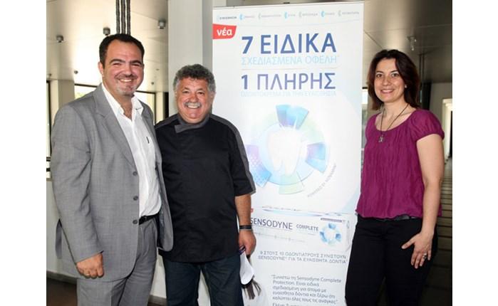 Ο chef Λ. Λαζάρου σε εκδήλωση για τη Sensodyne