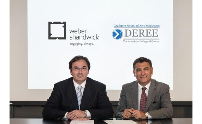 Μνημόνιο Συνεργασίας για Deree & Weber Shandwick