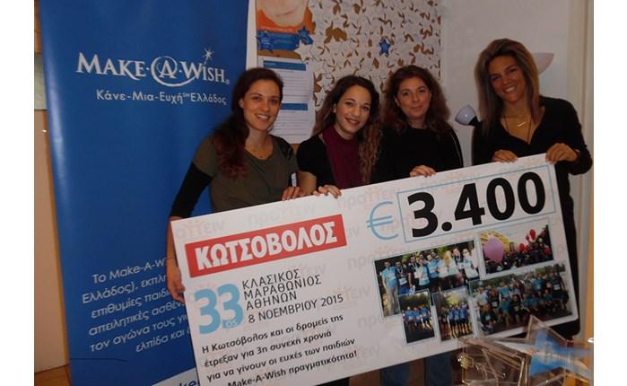 Κωτσόβολος: Ενίσχυση στον Make-A-Wish
