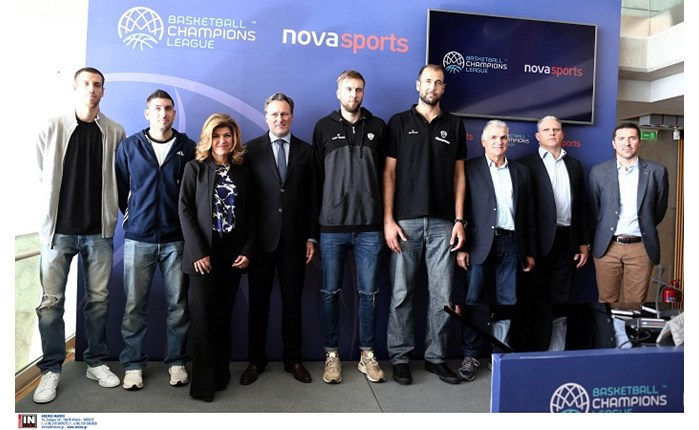 Novasports: Παρουσίασε τη συνεργασία με τo Basketball Champions League