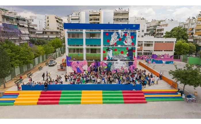 OΚ! Anytime Markets: Δράση «Ζωγραφίζοντας σχολικά κτίρια- ομορφαίνουμε τις γειτονιές»