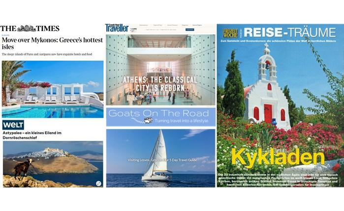 Marketing Greece: Προκαλεί το ενδιαφέρον διεθνών μέσων για την Ελλάδα